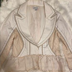 Bebe Ruffle Blazer Jacket SZ 4